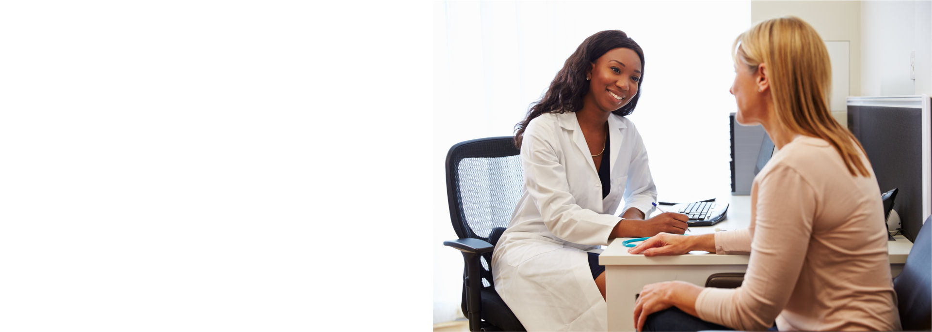 woman consults doctor